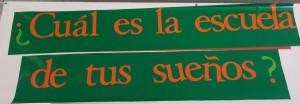 Pancarta Escuela de tus sueños