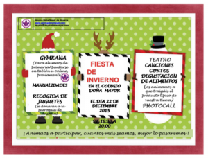 Cartel Programa fiesta invierno Apyma 2015